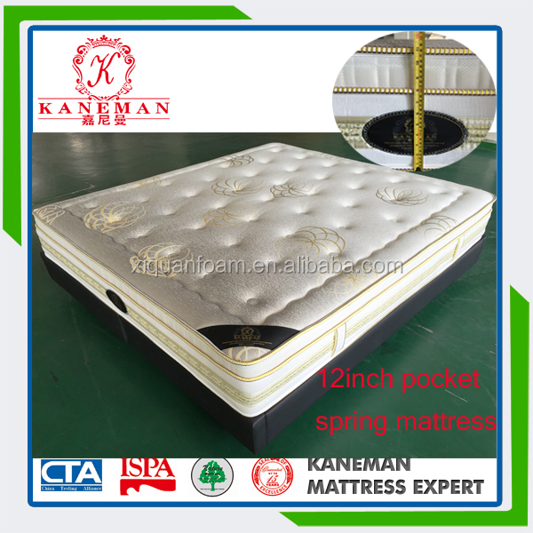 Romantic and happy dream memory foam pocket coil spring mattress