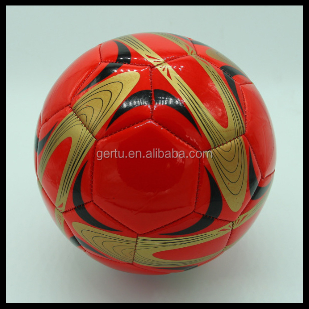 2015 promotional kid use machine stitched colorful football, soccer balls