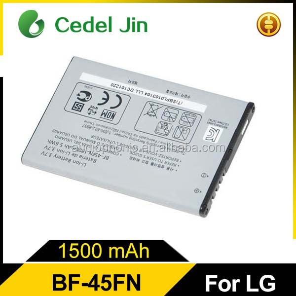 Hot sell BF-45FN battery for lg bf-45fn VS910 KW730 mobile phone batery
