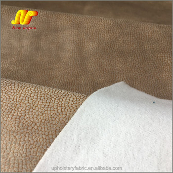 Embossed Foil Microfiber Synthetic Suede Fabric for Sofa