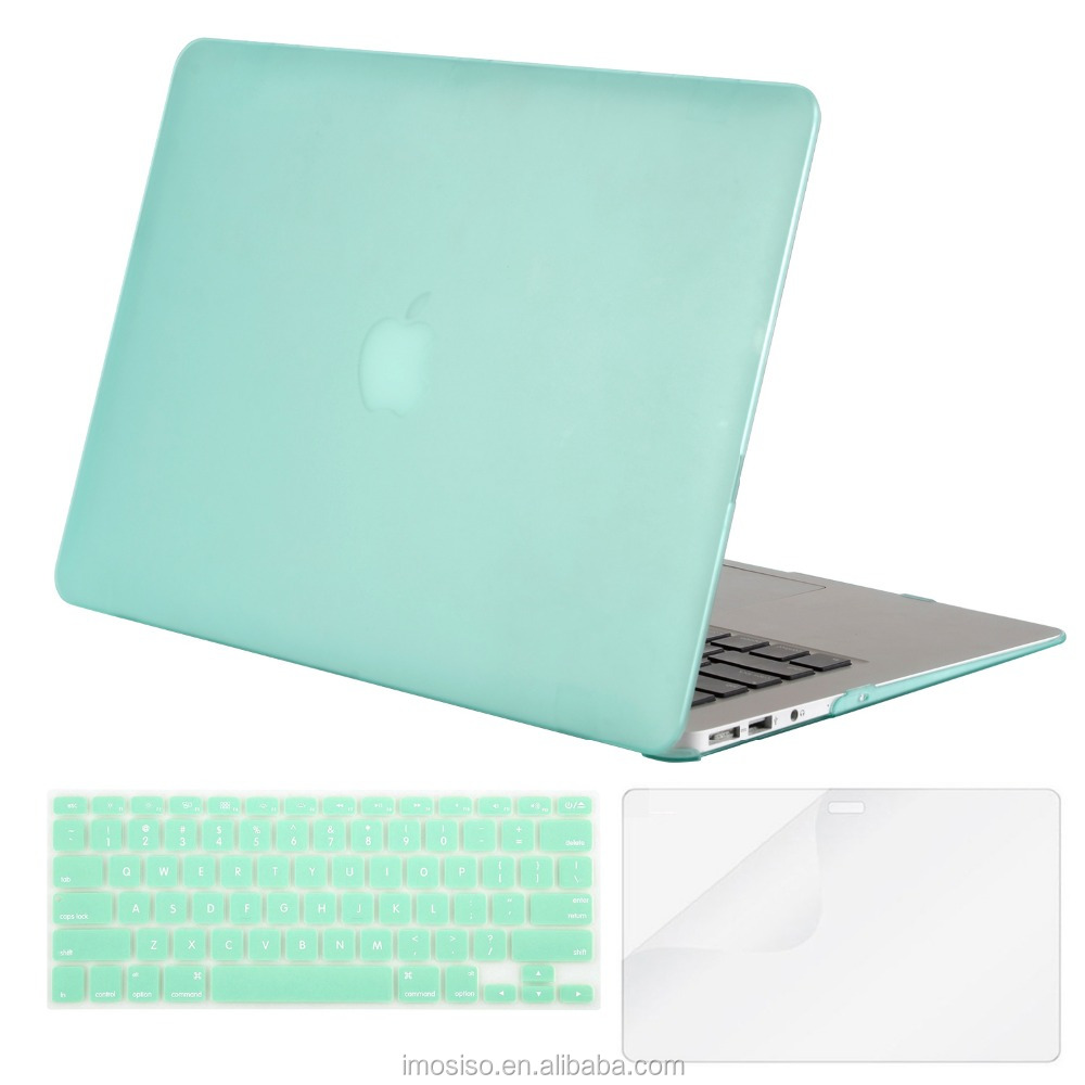 MOSISO cheap factory price laptop protect case cover mint green hard shell for macbook air 13 made in china