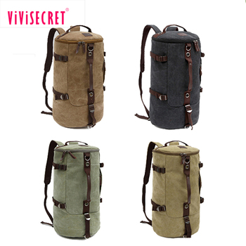 Multifunction custom wholesale messenger bag cylinder duffel travel bag canvas cylinder backpacks