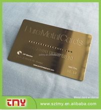 Shiny engraved printing Metal stainless steel business Cards