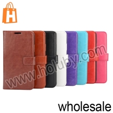 Newest Crazy Horse Wallet Style Stand Flip Leather Case for Samsung Galaxy S5 I9600 G900 With Magnetic Buckle and Card Slots