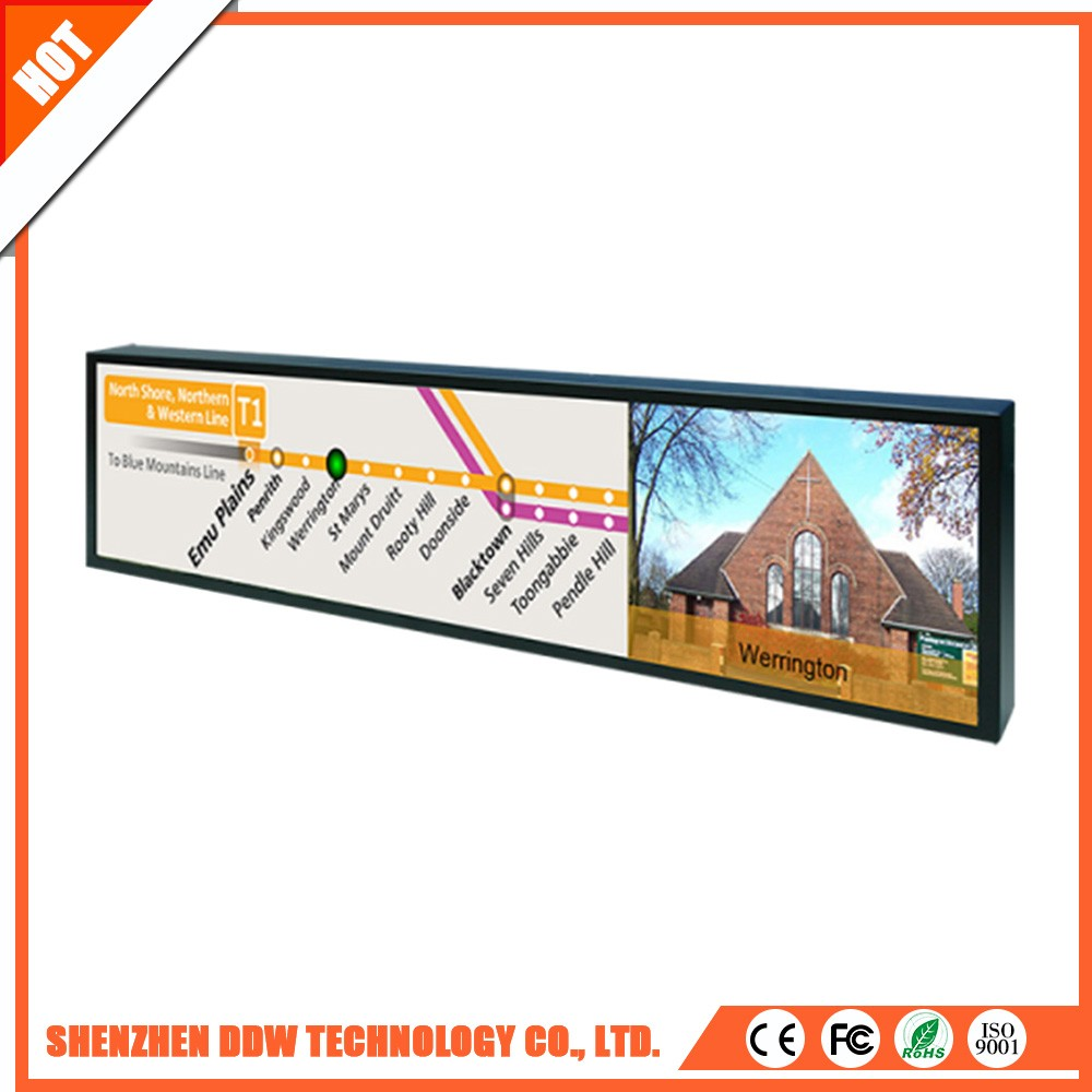 Good advertising idea ultra wide bar stretched lcd tft display manufacturers