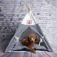 R1932H Hot Sale Wood Outdoor Pet Dog Cat Teepee Tent/Cat Teepee