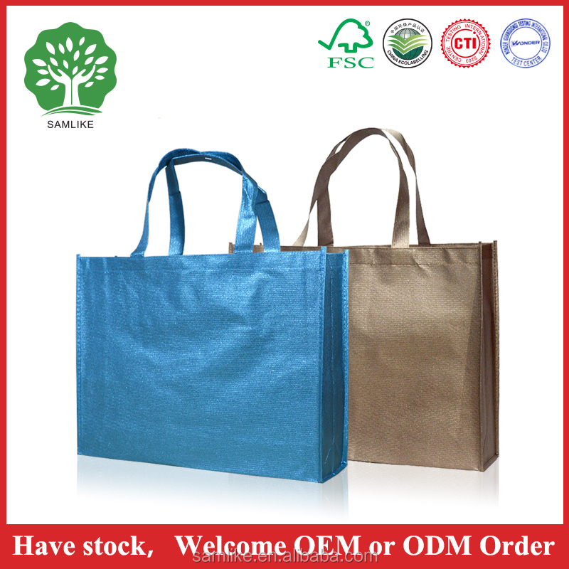 Promotional colourful used pp spunbond nonwoven cheap fabric recycled bag