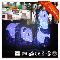 led 3D acrylic bear motif lights