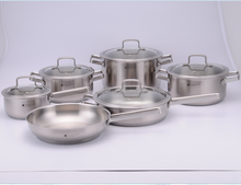 11pcs hot sell 316 Stainless Steel Cookware palm restaurant cookware