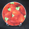 Strawberry shaped plate, ceramic strawberry plate