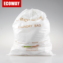 white cheap laundry bag for clothes foldable disposable hotel laundry bag