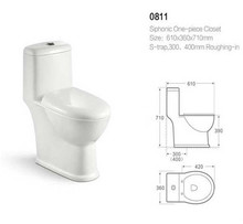 Yalaier Top quality water closet size ceramic material bathroom indian style bidet toilet
