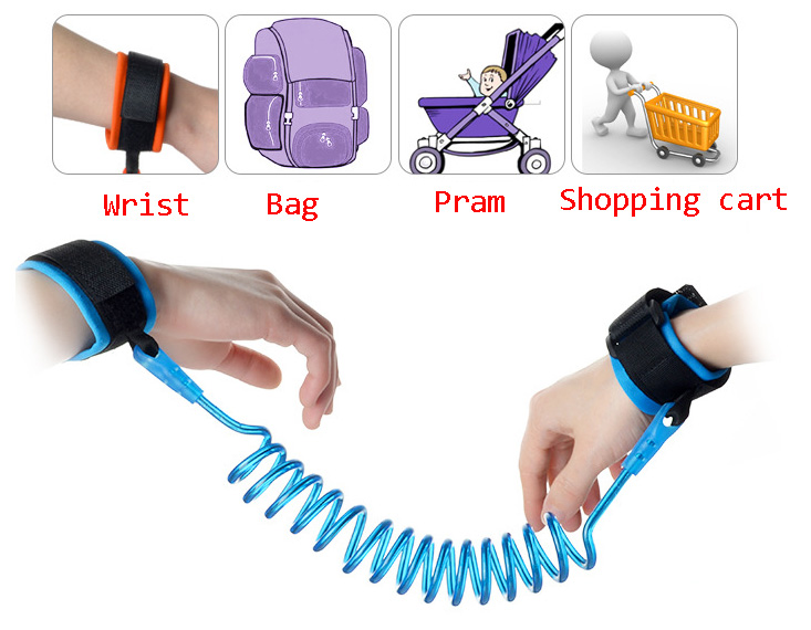 Blue/Orange Baby Child Anti-lost Wrist Link