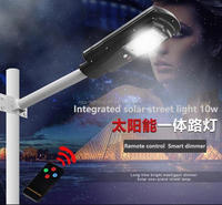 Cheap price hot selling quality approved strong lumens 120lm/w 10w led solar street light solar motion sensor light