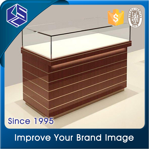Nice looking good quality wooden mix glass jewelry display table