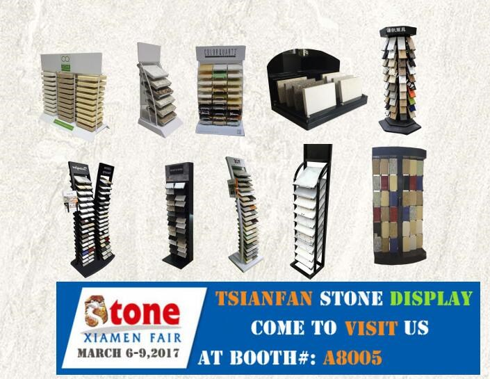 tsianfan culture stone customized iron display rack stone display cabinet
