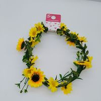 2017 china suppliers yiwu factory directly sale yellow color india flower garland decoration