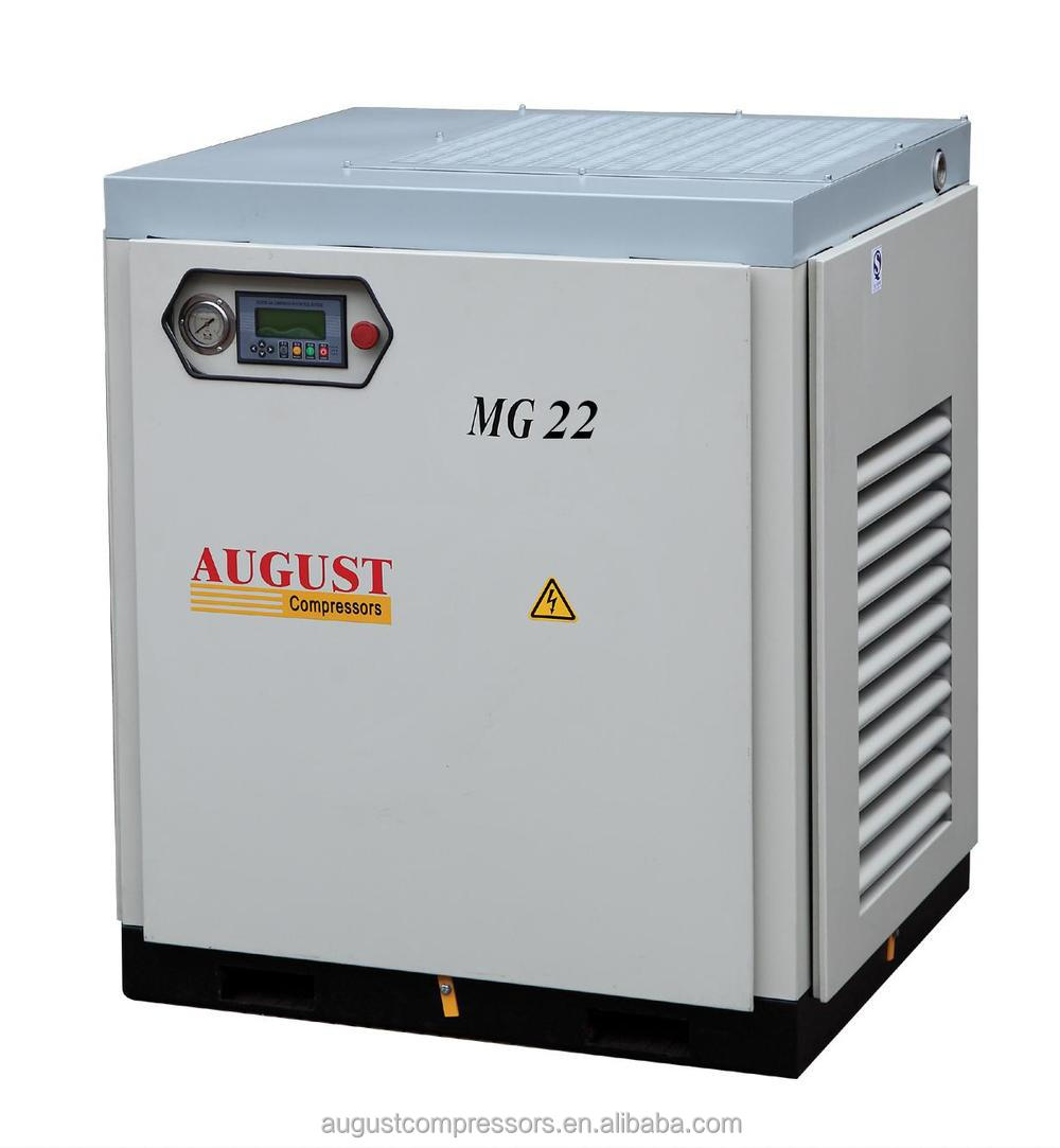 MG22C 22KW/30HP 13 BAR AUGUST stationary air cooled screw air compressor Hot Sales Offer