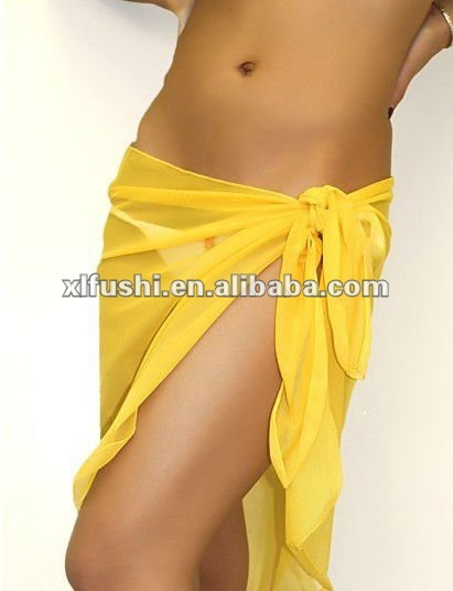 NEW Arrivals Stock Sheer Sarong Brown Short Swimwear Wrap