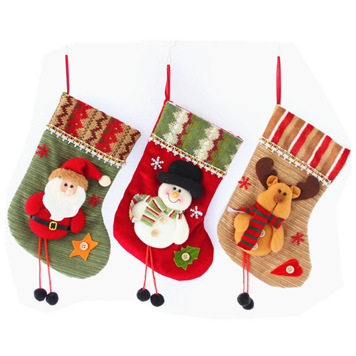 New Year <strong>Christmas</strong> Sock Stockings Candy Storage Bag For Kids <strong>Christmas</strong> Tree Hanging Stockings Decoration <strong>Christmas</strong> Supplies Gift