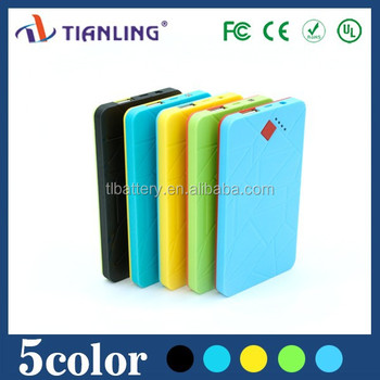 ultra thin li-polymer mobile phone travel charger 4000mah with led torch