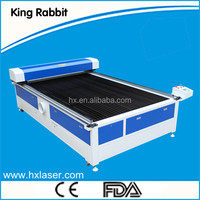 Rabbit 1200*2000 co2 auto feeding laser cloth cutting machine