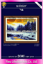 dimension cross stitch scenery by hand made fabric wall hangings