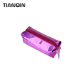 Portable Women Zipper Mini Cosmetic Bag Hologram Pencil Case Pen Holder Makeup Storage Boxes