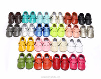 Wholesale factory direct Children's Genuine Leather Shoes Baby Moccasins toddler shoes