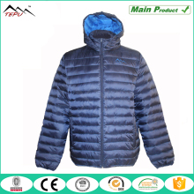 100% polyester light weight hooded padded jacket