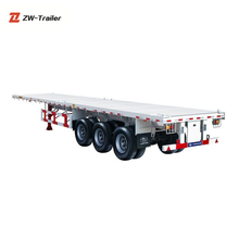 3Axles 40FT Container Flatbed Trailer Frame With Good Quality