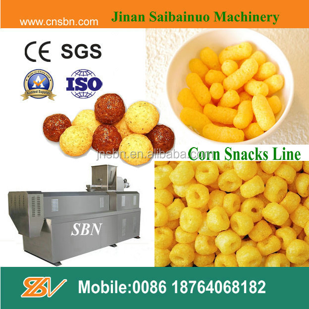 Corn Snacks Cheese Ball Food Extruder