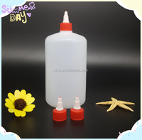 1 L plastic bottles for e liquid HDPE dropper bottles with red twist cap