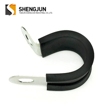 Compression metal p rubber lined 304 stainless steel cable rubber hose clamp