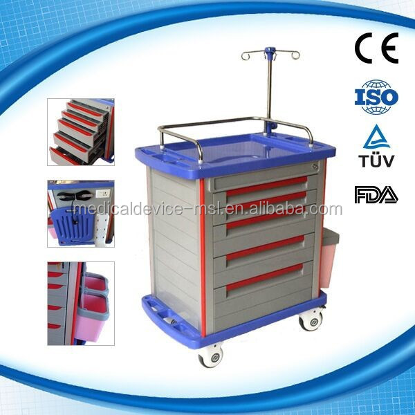 Dental cabinet dental carts dental mobile carts Medicine Delivery Medical Trolly MSLMT02H