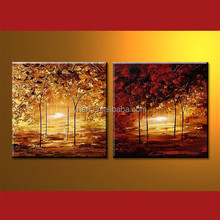 Wholesale Handmade Tree Scenery Painting Image For Decor