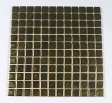 Gold stainless steel patten crystal glass mosaic tiles for kitchen