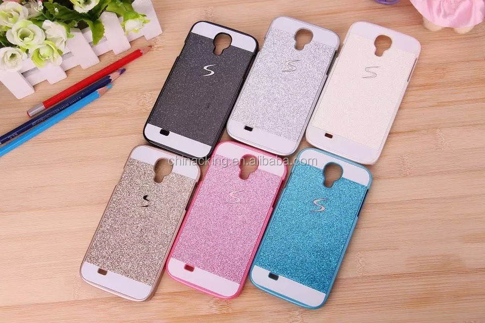 NEW Luxury Bling Glitter Hard Back Case Cover For Samsung Galaxy S4