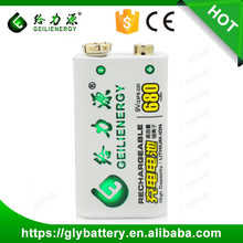 Geilienergy ni-mh 9V 200mah Rechargeble Battery Packs