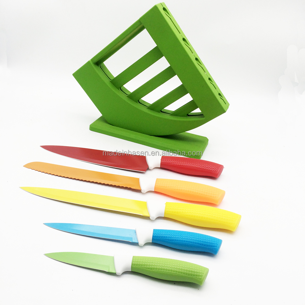 2016 new style multi color kitchen knives set