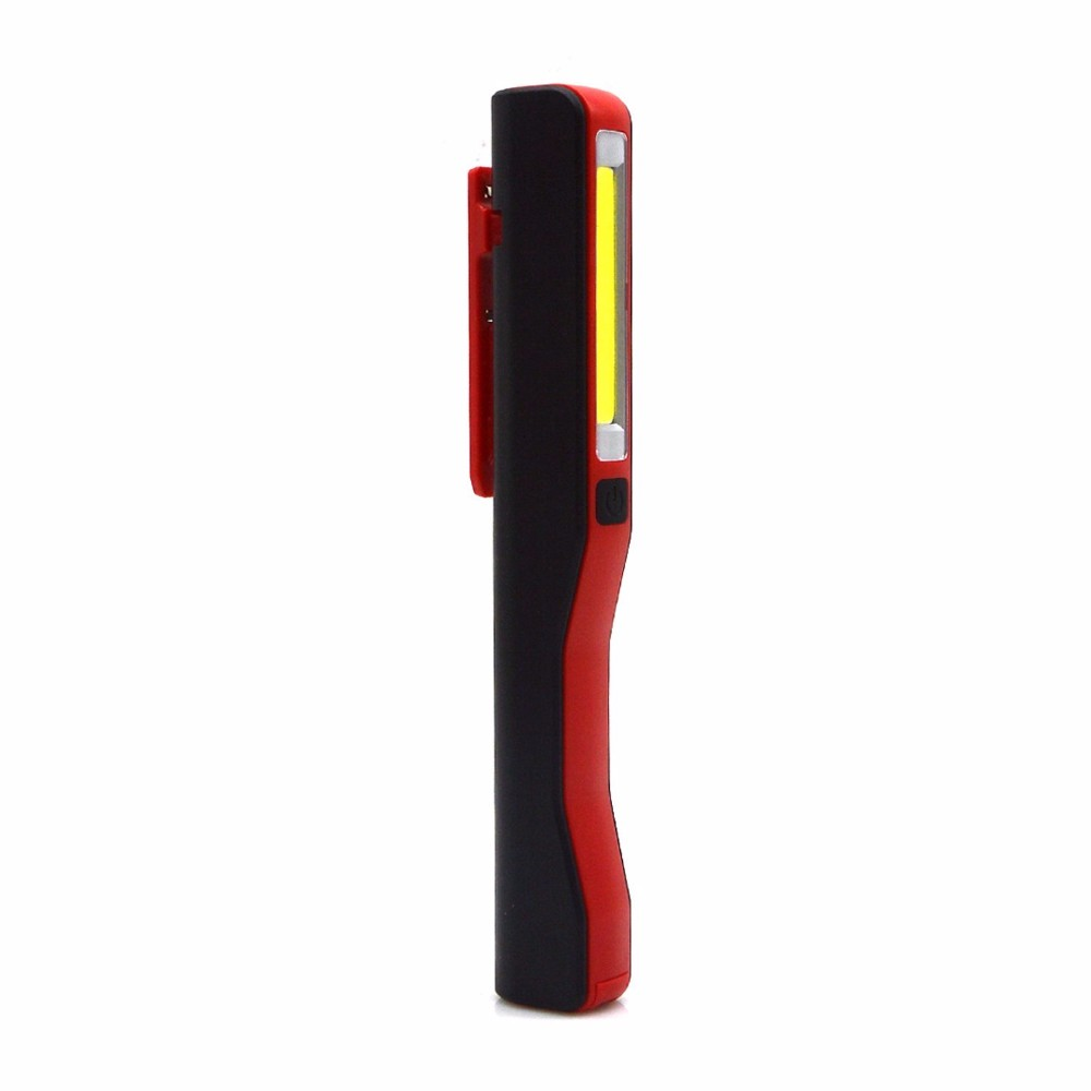 LED Pocket Pen Torch Worklight Magnetic Inspection Lamp Flashlight Light
