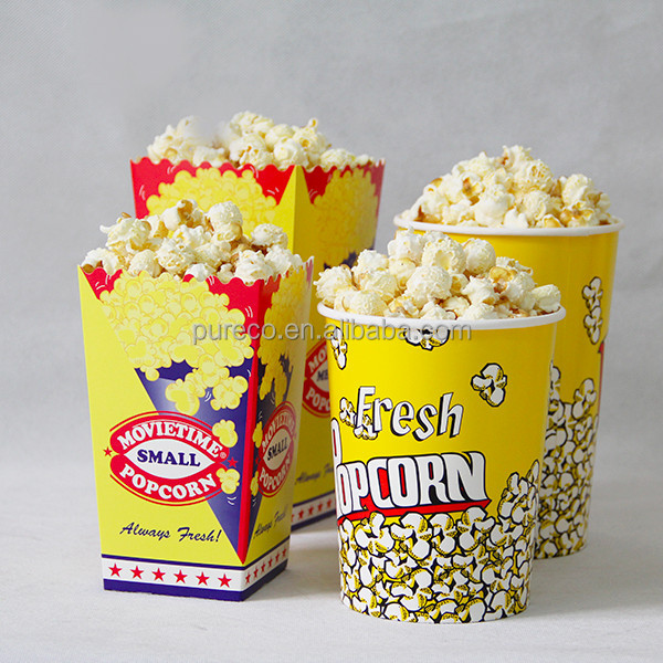 64oz cinema concession supplies custom printed paper popcorn buckets tubs boxes cups