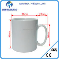 white blank sublimation mug with orca coating