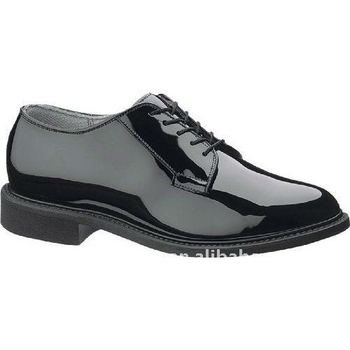 Black Shinny Clarino Leather for military shoes