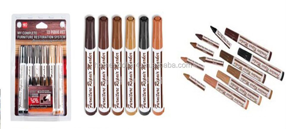 practical colored 12PC FURNITURE TOUCH-UP MARKER