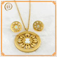 Bulk Sale Gold Plating Round Shaped Pearl Bear Crystal Cheap Jewelry Sets For Ladies