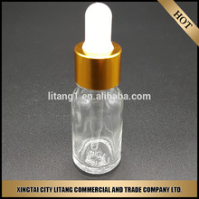 Clear essential oil glass bottle with screw cap Hot stamping service avaliable