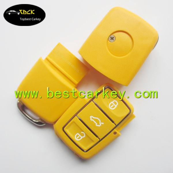 Topbest new model key blank for smart car 3 button remote key case shell