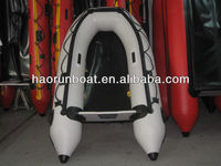 CE 2.7m PVC/Hypalon 3 person grey fishing inflatable sport boat