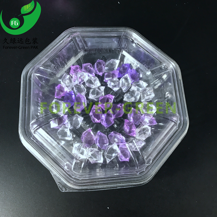 Disposable PET plastic fruit packaging container for fruit
